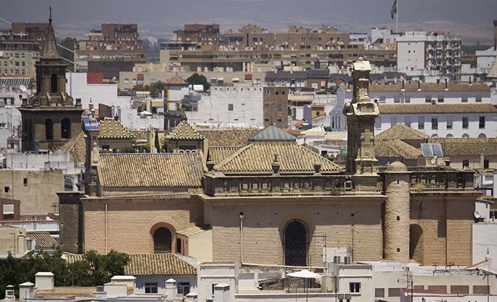 El convento de Montesión, hoy Archivo de Protocolos, a vista de pájaro / F. Piñero