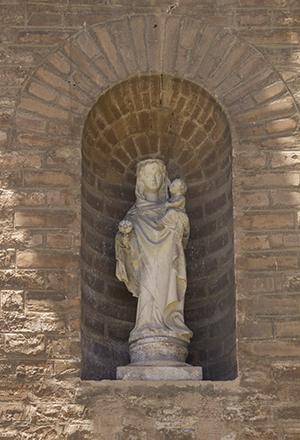 Detalle de la réplica de la Virgen de los Olmos