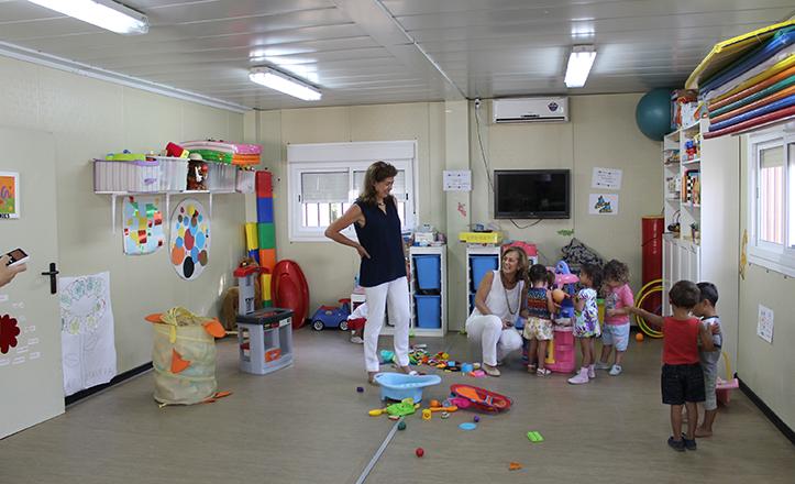 La Delegada de Familia y Asuntos Sociales, Dolores De Pablo-Blanco, en El Vacie