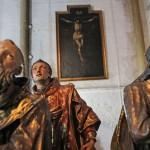 El grupo de santos que forman parte del conjunto escultórico de la Virgen