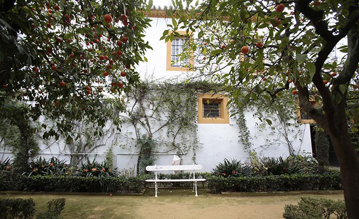 El Palacio de Dueñas fue la primera residencia de Antonio Machado, cuyos árboles frutales y el agua de sus fuentes recuerda en su obra