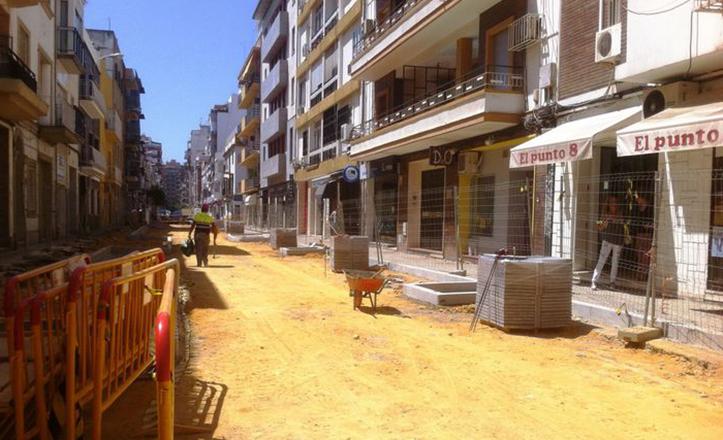 Estado de las obras en la calle Virgen del Valle