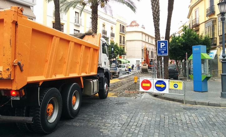 Obras en la calle San Pablo