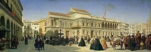 La Plaza de San Francisco en 1850, según Achille Zo