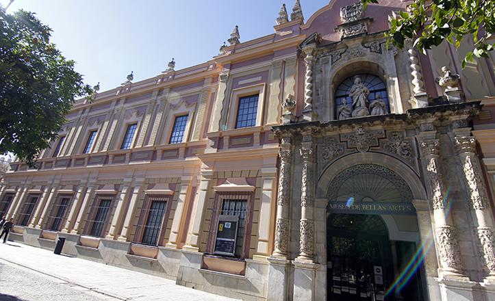 La portada del Museo, antiguo acceso al convento de la Merced, se encontraba originariamente en la calle Bailén / Vanessa Gómez