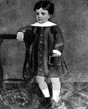 Retrato de un jovencísimo Antonio Machado a manos de su abuela Cipriana