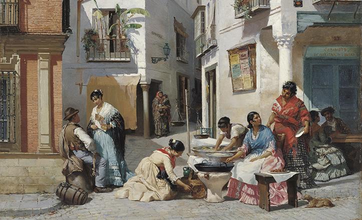 «Vendedoras de rosquillas en un rincón de Sevilla» de Wssel de Guimbarda