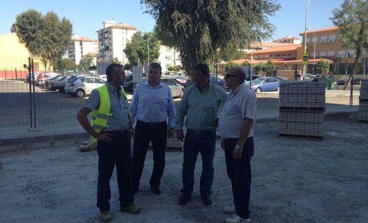 Continúan a buen ritmo las obras en la plaza Bib Rambla