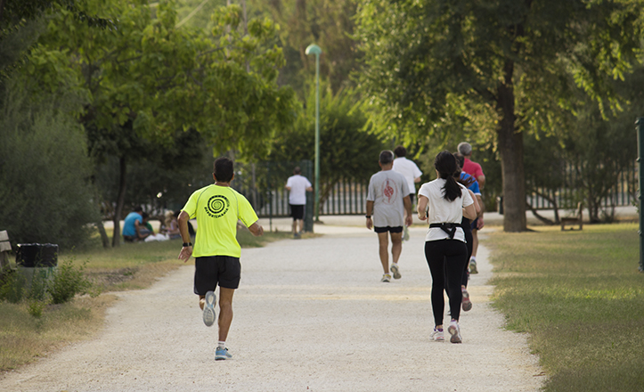 La red de caminos sirven de circuito para corredores y ciclistas / Fran Piñero