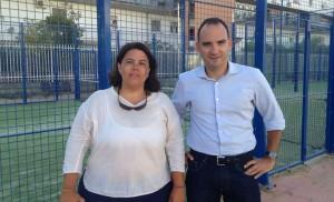 Brey junto a Rafael Belmonte, en una reciente visita a las instalaciones