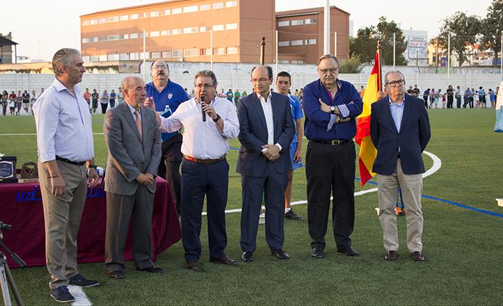 De izquierda a derecha: Patrón Poley, Montoro, Zoido, Castro, Herrera y Domínguez / Fran Piñero