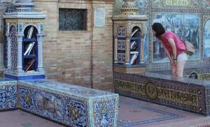 La plaza de España, una biblioteca al aire libre