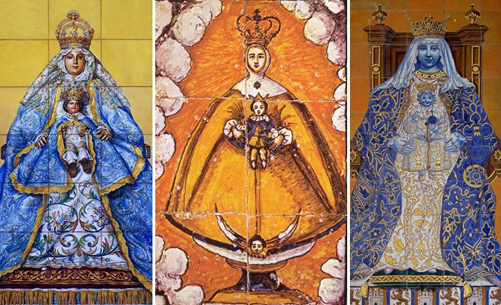 Retablos cerámicos en honor a la Virgen de los Reyes