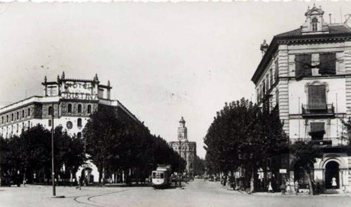 Estampa antigua de la calle Almirante Lobo, procedente de todocoleccion.net