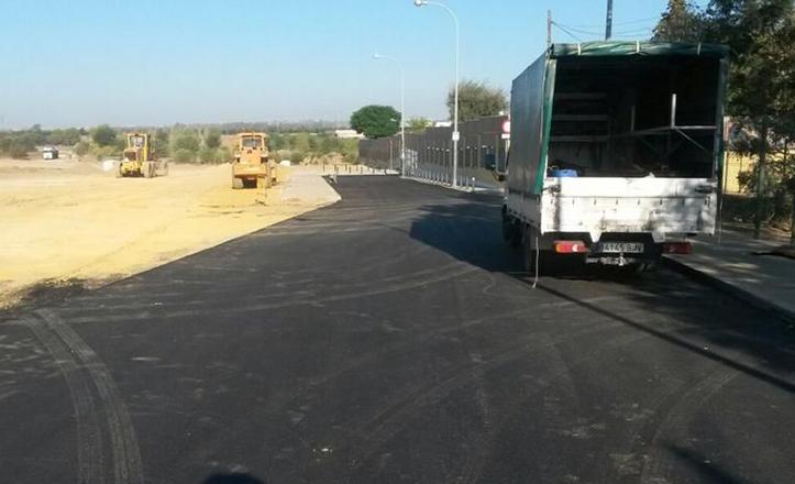 Fin de las obras del colector de la calle Alonso Sánchez de Huelva, en Bellavista