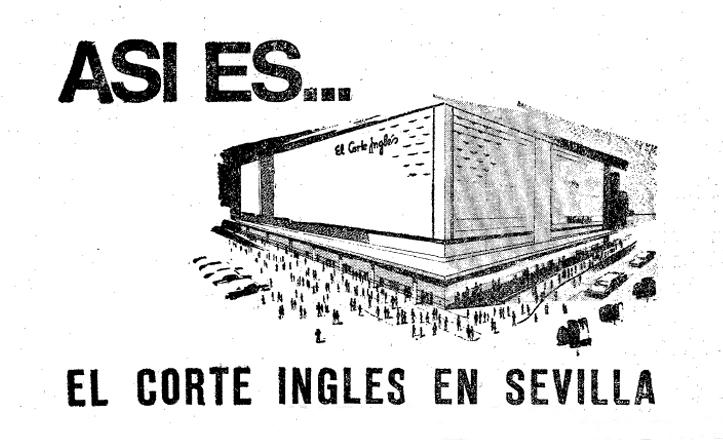 Anuncio publicitario de El Corte Inglés en 1969