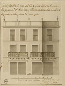 Diseño para casa particular en la plaza del Pan en 1821 / F. Ollero