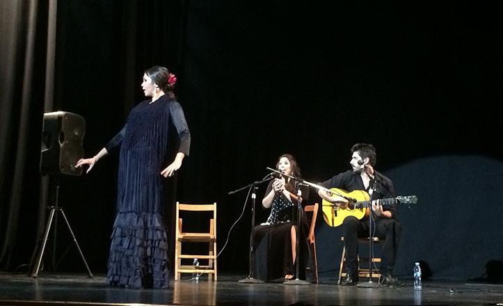 Instantánea de «Flamenco por partes», en el Teatro Virgen de los Reyes