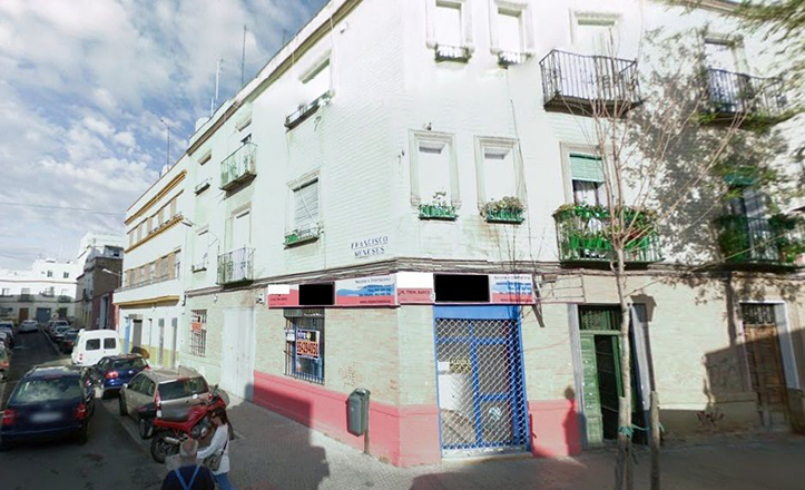 La calle Francisco Meneses, del Distrito Macarena, muy cercana a la avenida de Miraflores