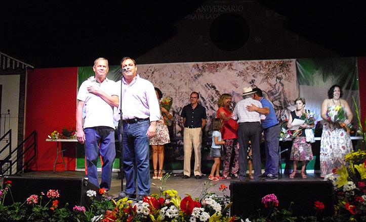 Jaime Ruiz y José Pizarro, durante la inauguración de la Velá de la Corza 2014