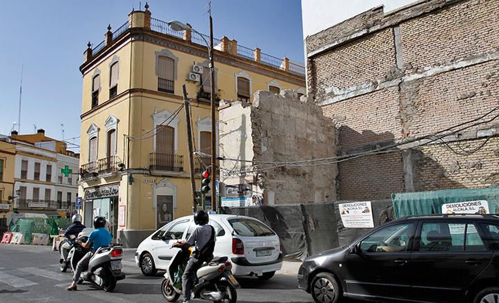 El lienzo de la muralla descubierto en la Puerta Osario