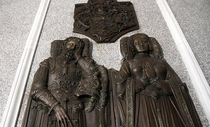 Lápida de Duarte y Alcocer en el Panteón de los Sevillanos Ilustres / Vanessa Gómez