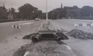 Tuberías de 500 mm en el puente de Los Remedios (1969)