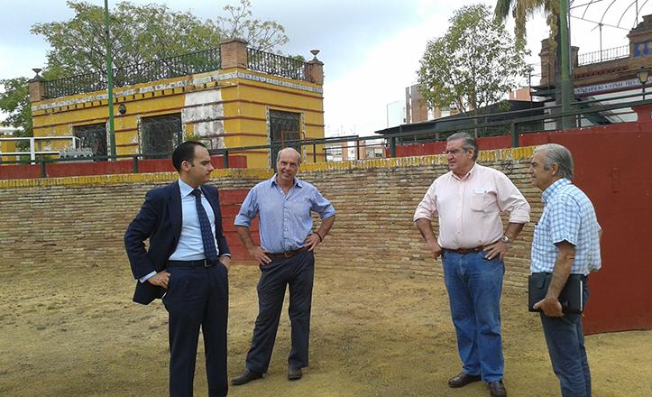 Rafael Belmonte y Antonio Andrades en la Real Venta de Antequera