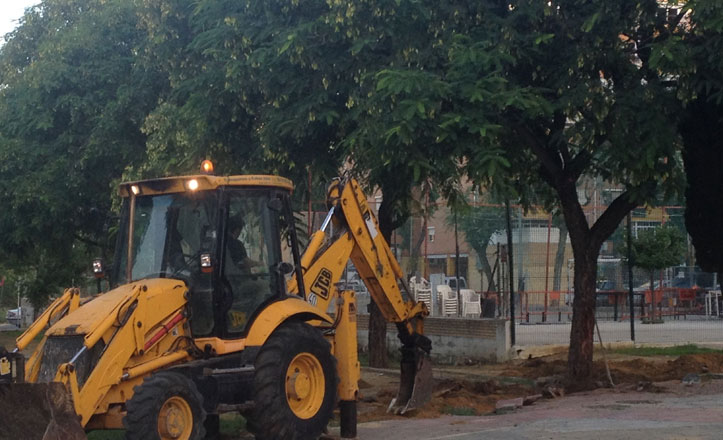 Obras en la barriada Federico García Lorca