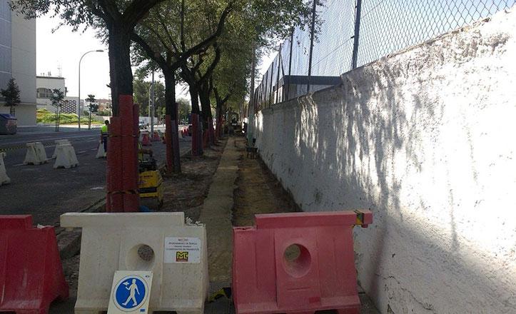 Obras de mejora en la avenida San Juan de la Cruz