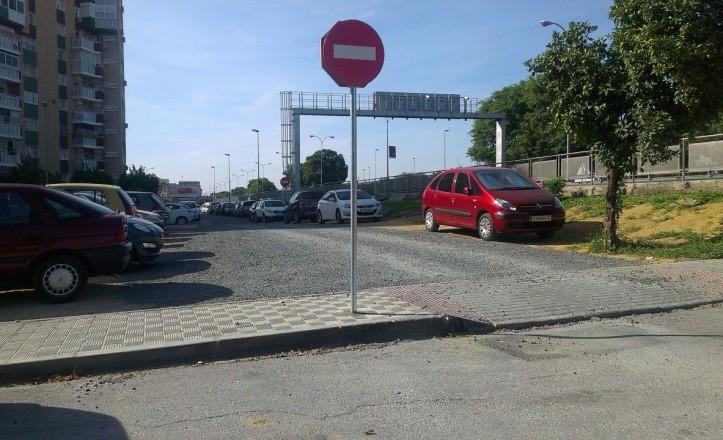 Nuevo aparcamiento en la calle Mandarina