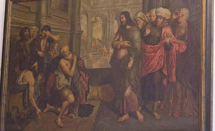 «La curación del paralítico por Cristo en la piscina probática», en la Capilla / Kako Rangel