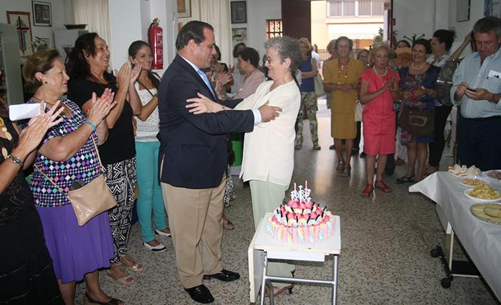 Jaime Ruiz en la celebración del IV Aniversario del Economato Social de las Salesianas de María Auxiliadora