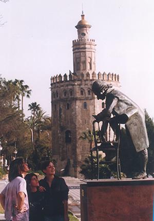 El monumento a Mozart en su antiguo emplazamiento