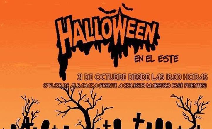 Cartel de la fiesta Halloween en Sevilla Este