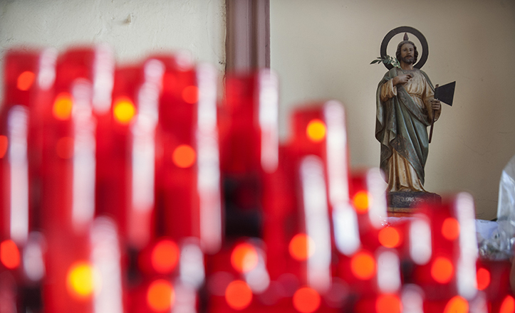 Estatuilla de San Judas Tadeo en la iglesia de San Antonio Abad de Sevilla / Juan José Úbeda