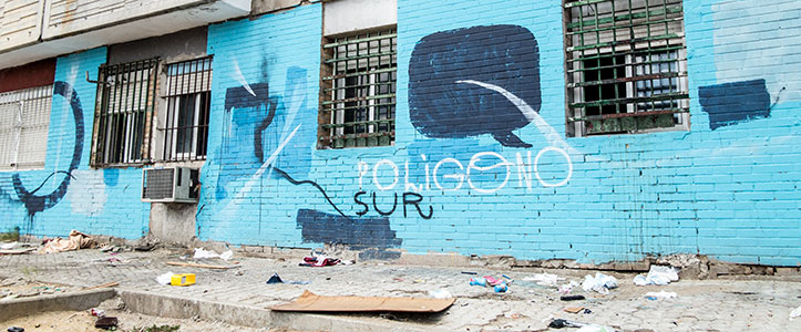 Un graffiti de las Tres Mil