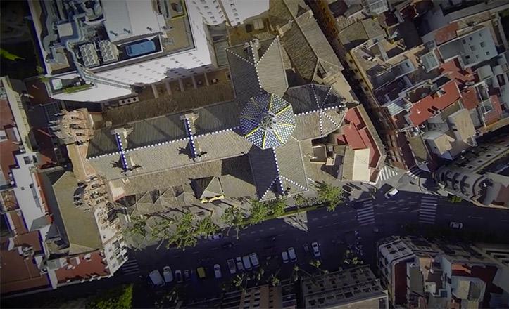 La parroquia de la Magdalena, desde el aire