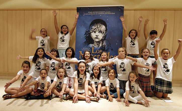 Algunas de las participantes del casting para Eponine y Cosette, de «Los Miserables» / Vanessa Gómez