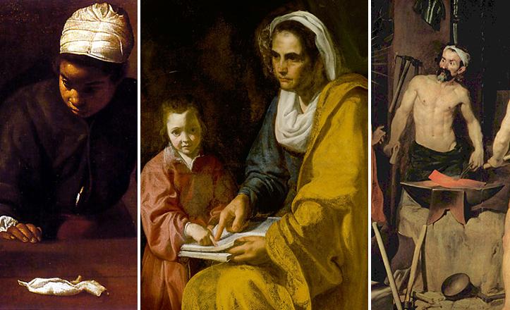 Cuadros de Velázquez y calles de Sevilla