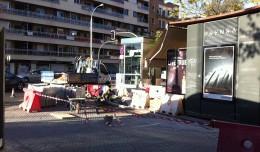 Obras en el acerado de la Gran Plaza