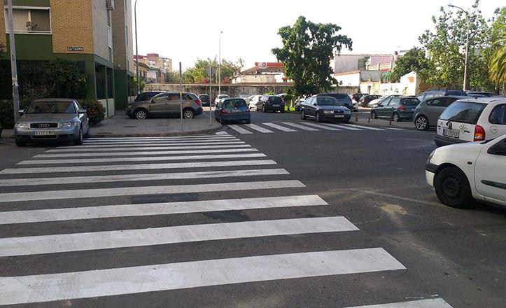 Pasos de peatones en la calle Satsuma