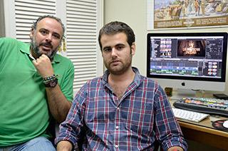 Pablo Lucena y Pedro García, los productores de «La primera piedra»