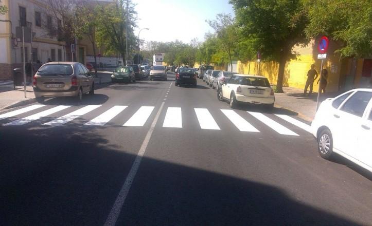 Nuevo estado de las señales horizontales del barrio de Rochelambert