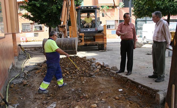 Obras en la barriada Cruz de Malta