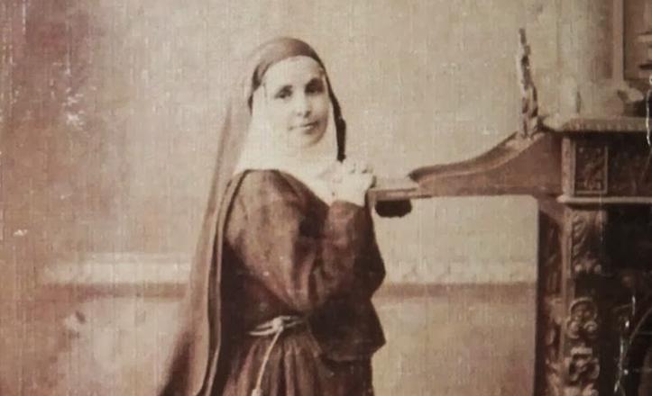 Retrato de Santa Ángela en su juventud, ya como Hermana de la Cruz