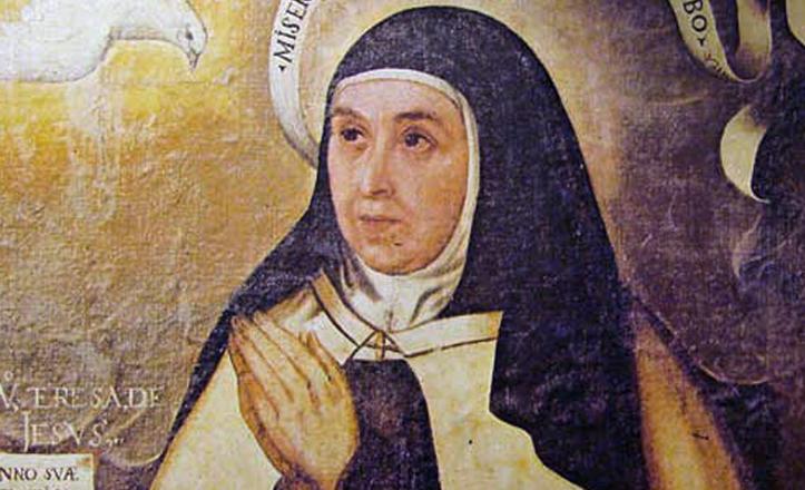 Detalle del retrato de Santa Teresa de Jesús, el único que se le pintó en vida