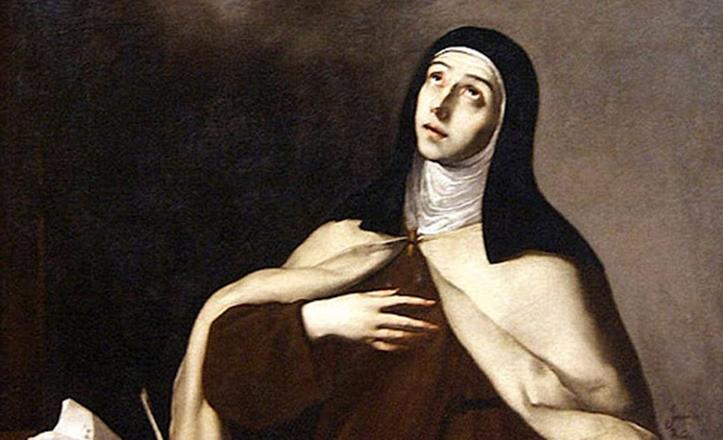 La Santa Andariega en el pincel de José de Ribera, lienzo que se puede contemplar en el Museo de Bellas Artes de Sevilla