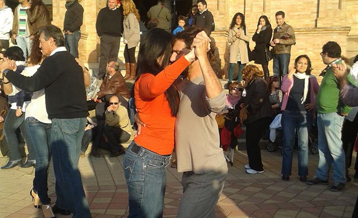 Tango en la plaza de España