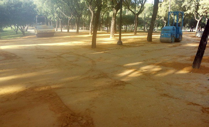 Reponen el albero en el Parque Amate